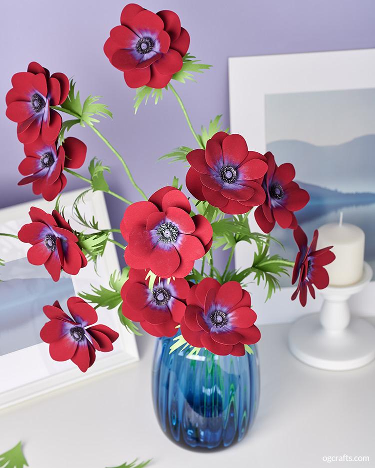 anemone paper bouquet