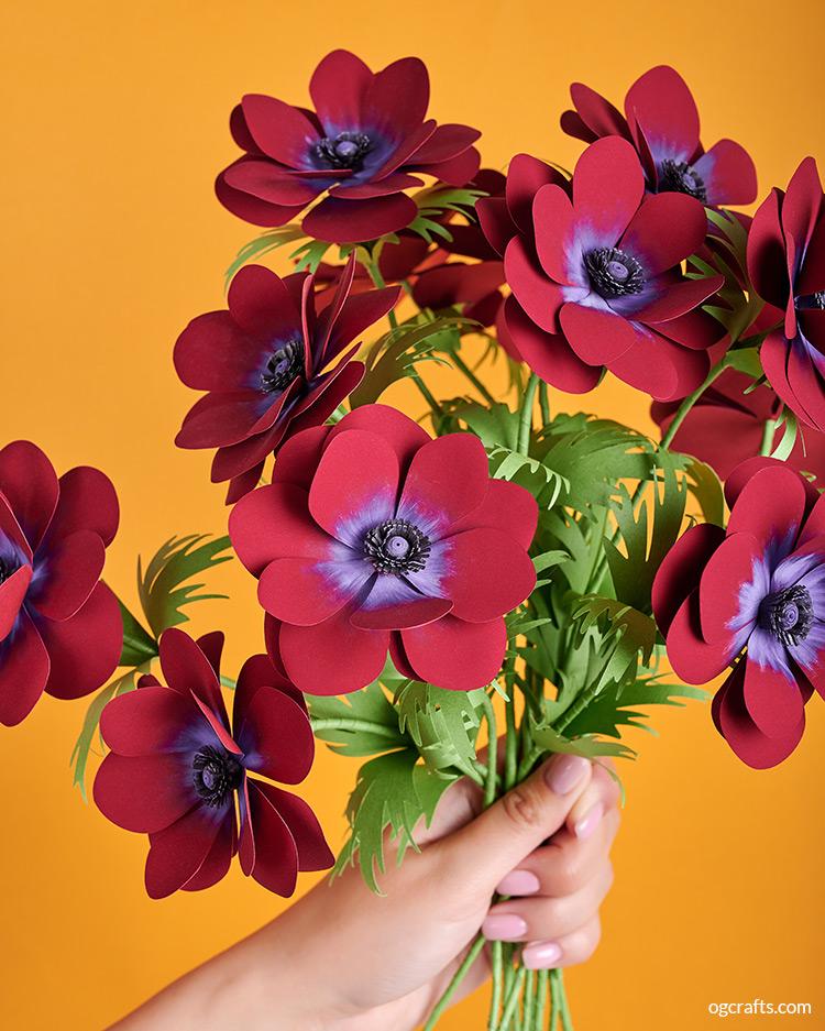 diy paper anemone bouquet