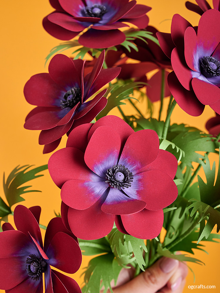 diy paper anemone flower bouquet