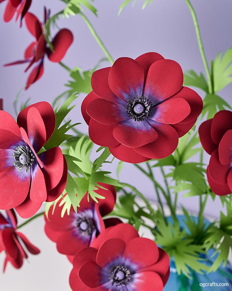 diy paper anemone