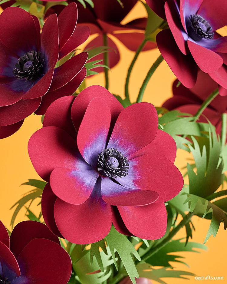 handmade paper anemone