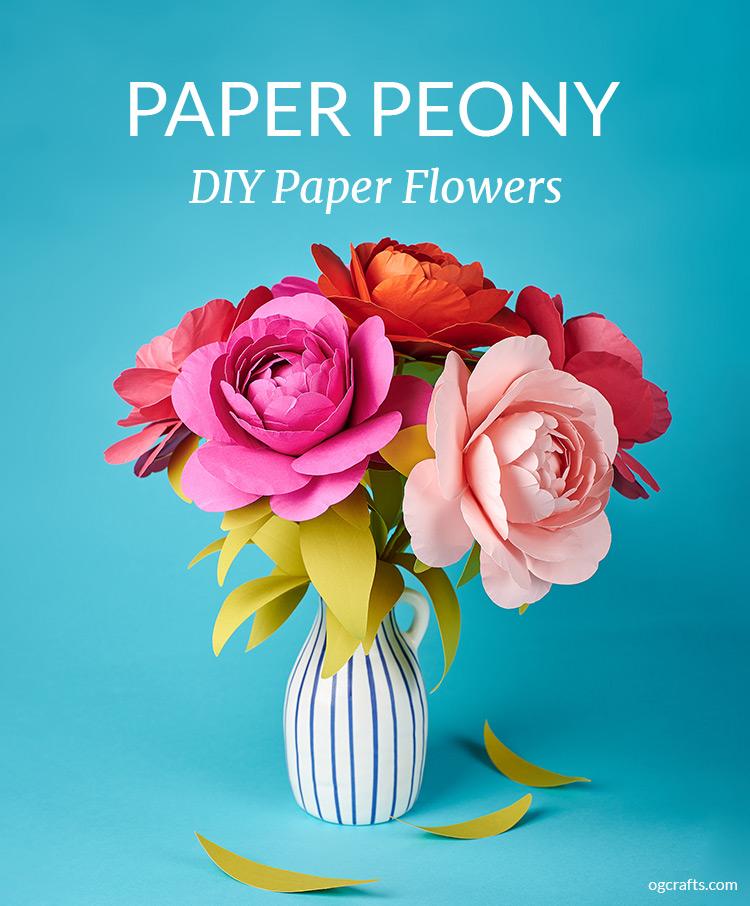 DIY paper peony flowers