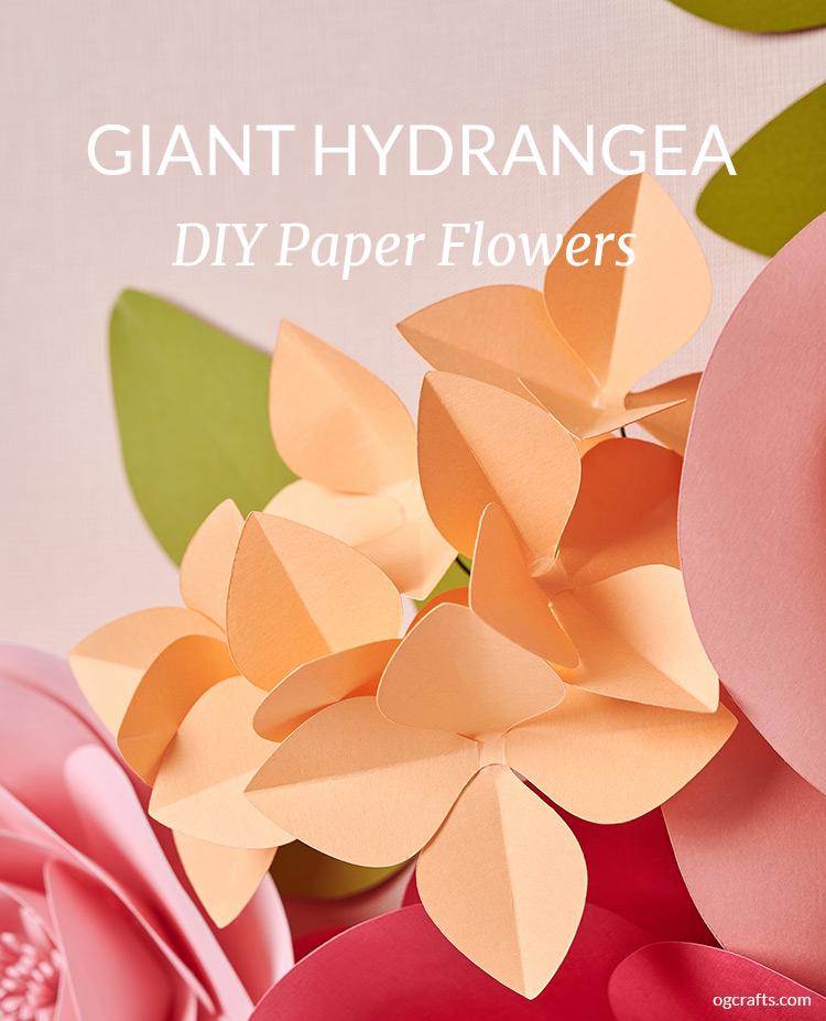 Giant Hydrangea Paper Flowers