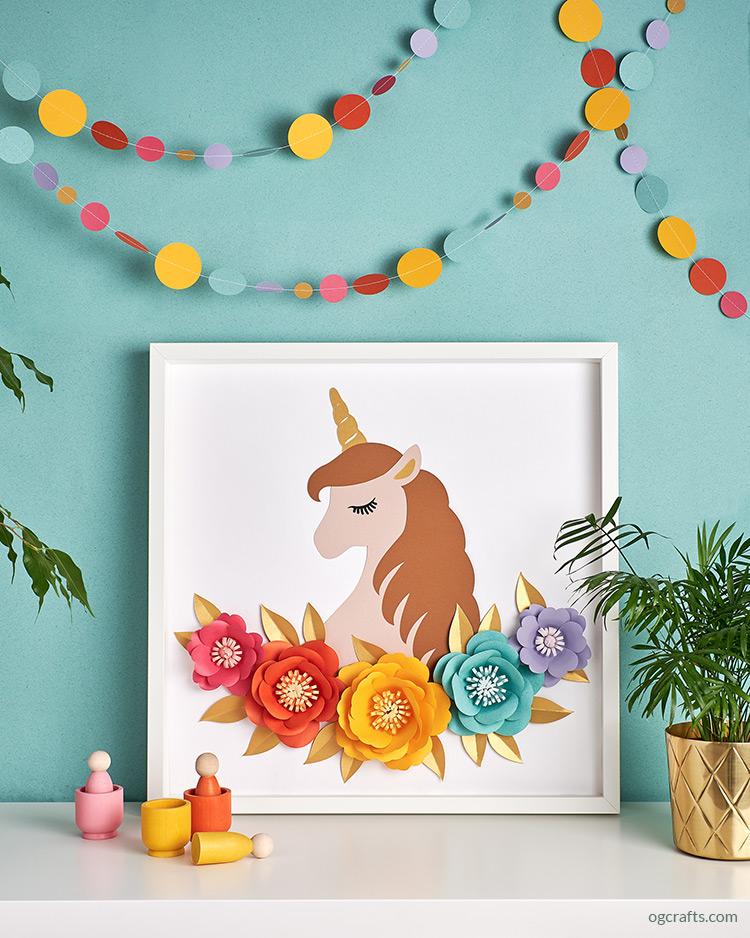 Papercut Unicorn Artwork