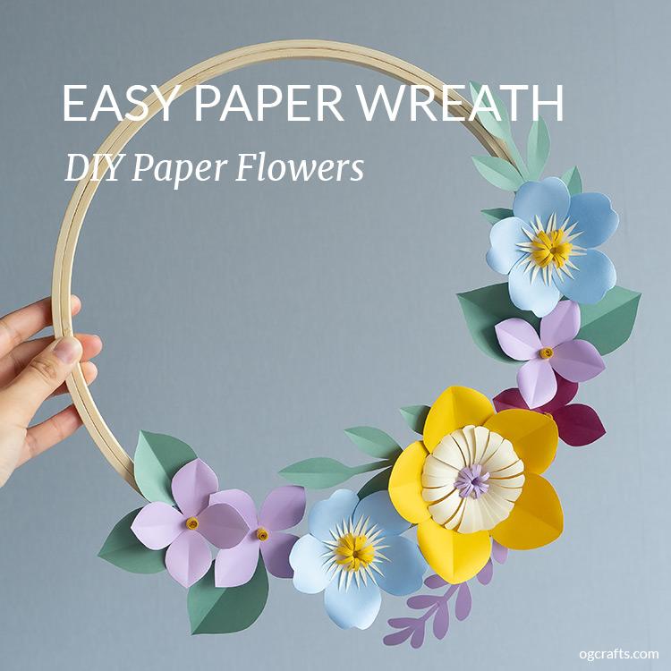 Easy DIY paper wreath