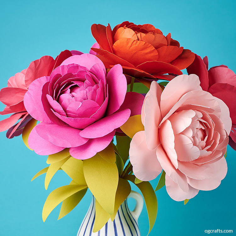 Peony Paper Flower Tutorial