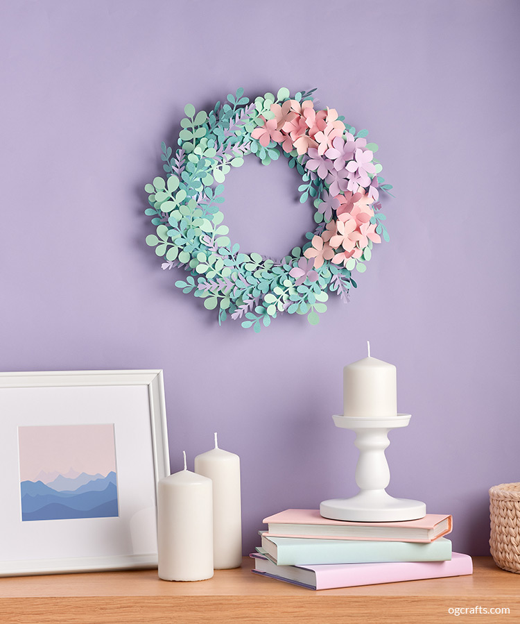 Paper wreath home decor