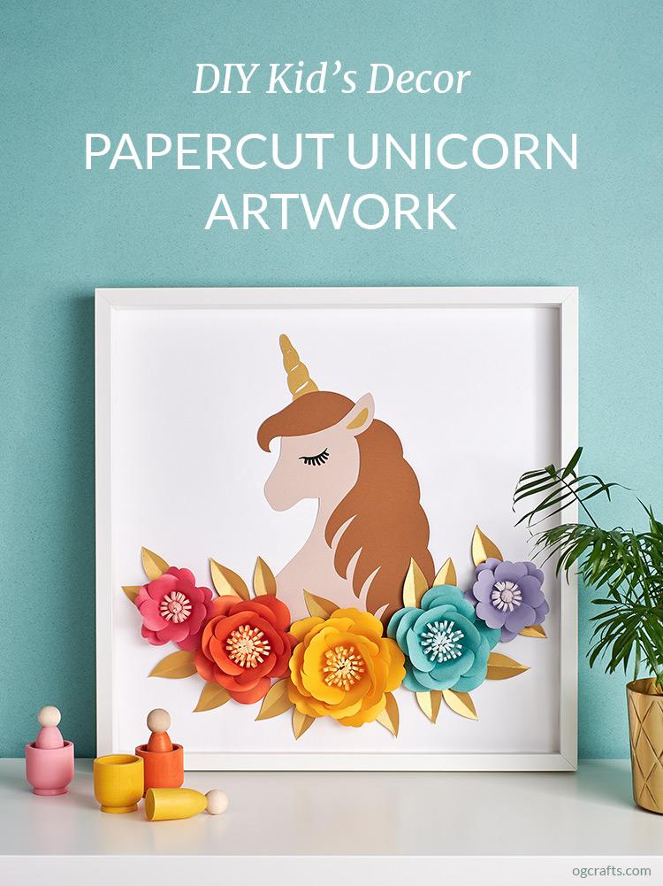 DIY Papercut Unicorn Artwork