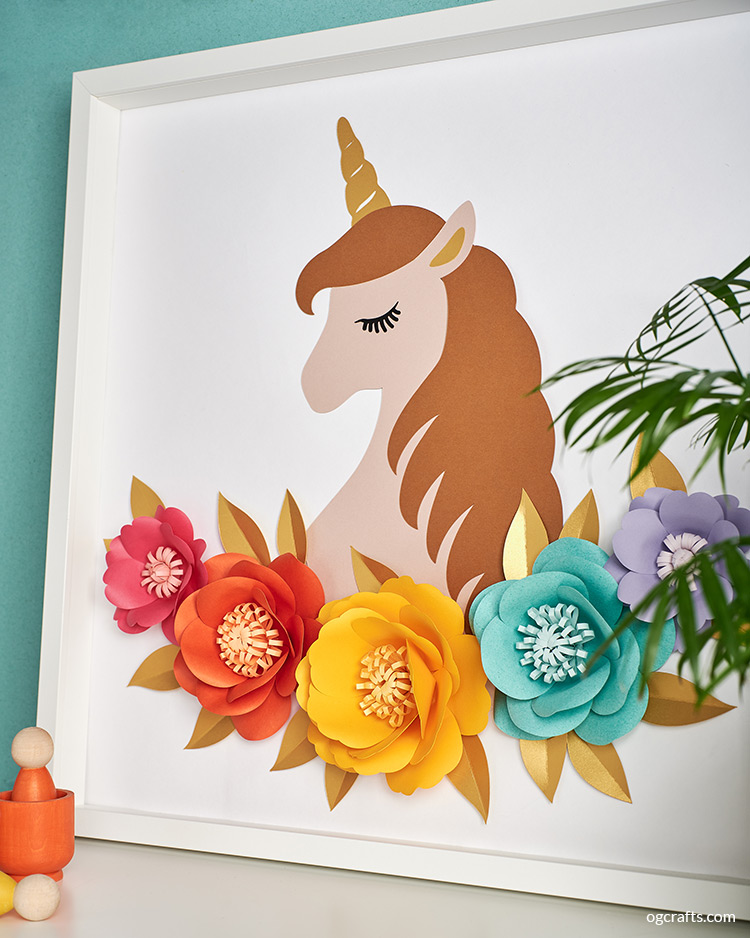 papercut unicorn nursery decor