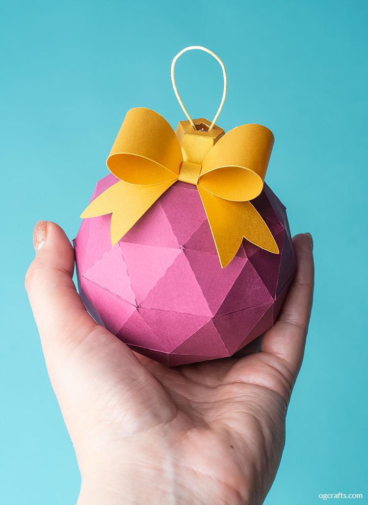 3d paper christmas ball