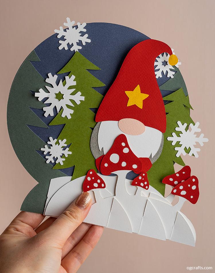 Gnome Pop Up Card