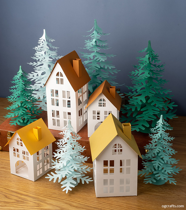 handmade paper village christmas