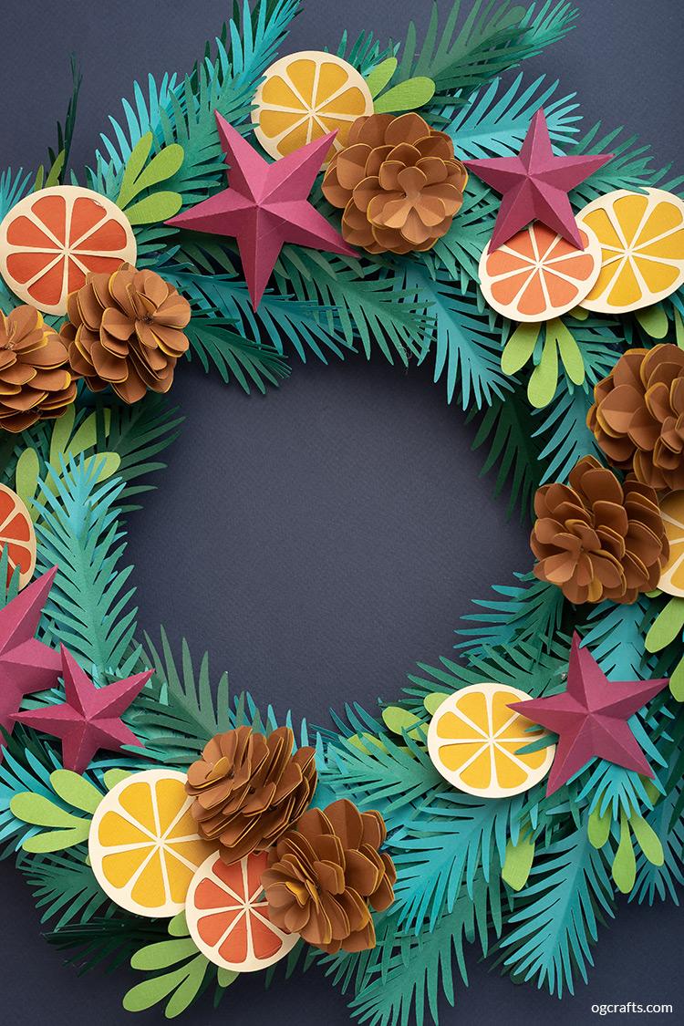 diy paper winter wreath