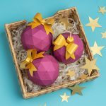 paper christmas balls svg