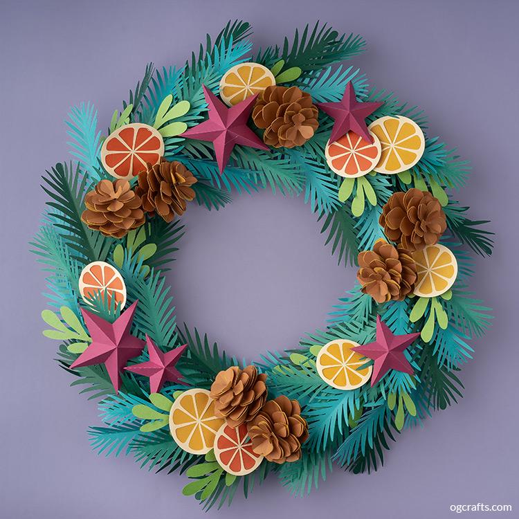 handmade paper Christmas wreath tutorial
