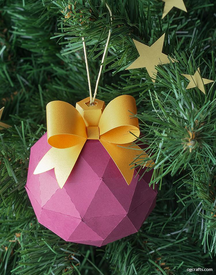 handmade cardboard christmas ball
