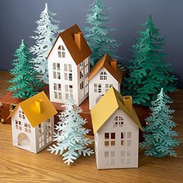Paper craft village